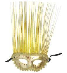 Parti - Altın Rengi Holografik Maske