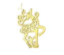 Parti Dünyası - Altın Rengi Simli Geyik 13x17cm