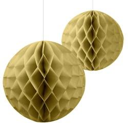 Parti Dünyası - Altın Renk 2 Li Petek Süs / Dekor Set