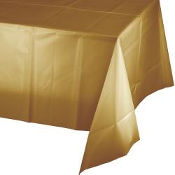Parti Dünyası - Altın Renk Masa Örtüsü 274 cm X 137 cm ebadında