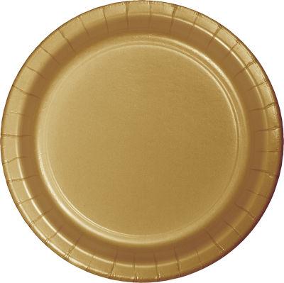 Altın Renk Tabak 8 Adet