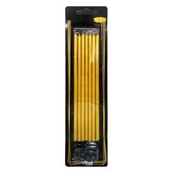 Parti Dünyası - Altın Renk Uzun Mum 20 cm Pakette 7 Adet