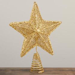 Parti Dünyası - Altın Yıldız Çam Ağacı Tepelik 24 cm