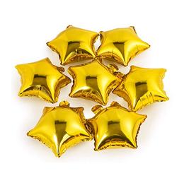 Parti Dünyası - Altın Yıldız Folyo Balon 25 x 28 cm 6 Adet