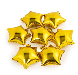 Parti Dünyası - Altın Yıldız Folyo Balon 25 x 28 cm
