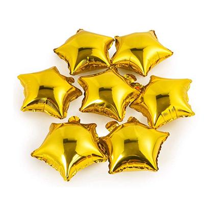 Altın Yıldız Folyo Balon 25 x 28 cm