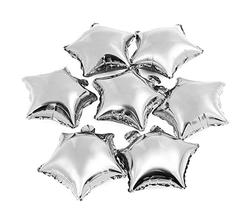 Parti Dünyası - Gümüş Yıldız Folyo Balon 25 x 28 cm 6 Adet