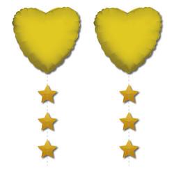 Parti - Altın Yıldız Folyo Balon Kuyruğu