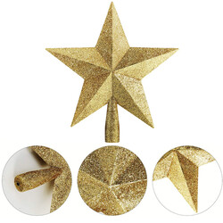 Parti Dünyası - Altın Yıldız Çam Ağacı Tepelik 20 cm