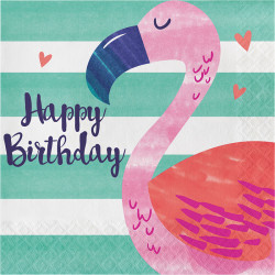 Parti Dünyası - Ananas, Flamingo ve Arkadaşları 16 lı Peçete / Flamingo