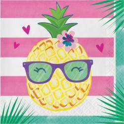 Parti Dünyası - Ananas, Flamingo ve Arkadaşları 16 lı Peçete / Ananas