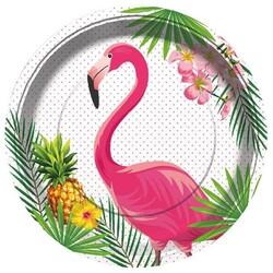 Parti Dünyası - Flamingo Tabak 23 cm 8 Adet