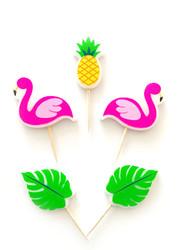 Parti - Ananas Flamingo ve Arkadaşları Mum Set