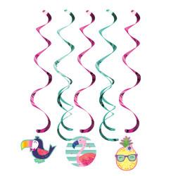 Parti Dünyası - Ananas, Flamingo ve Arkadaşları Süs Dalgası 5 Adet
