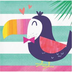 Parti Dünyası - Ananas, Flamingo ve Arkadaşları16 lı Küçük Peçete / Tukan