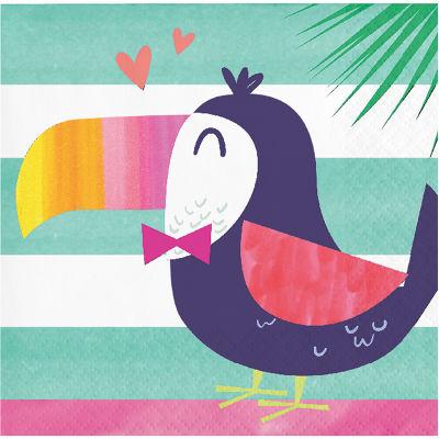 Ananas, Flamingo ve Arkadaşları16 lı Küçük Peçete / Tukan