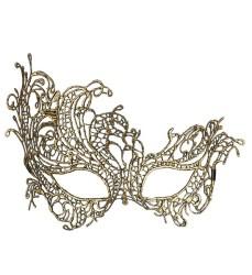 Parti Dünyası - Antik Gold Dantelli Şık Maske