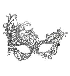 Parti - Antik Gümüş Dantelli Şık Maske