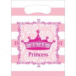 Parti Dünyası - Prenses Hediye Poşeti 6 Adet