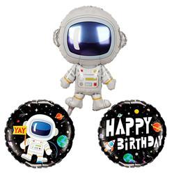 Parti Dünyası - Astronot Balon Seti Pakette 3 Adet