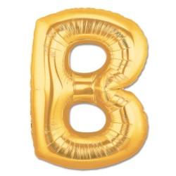 Parti Dünyası - B Harfi Altın Renk Folyo Balon 100 cm