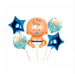 Parti Dünyası - Baby Boy Bebek Folyo Balon Seti 5 Adet
