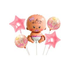 Parti Dünyası - Baby Girl Bebek Folyo Balon Seti 5 Adet