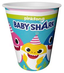 Parti Dünyası - Baby Shark Partisi Karton Bardak 8 Adet