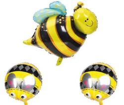 Parti Dünyası - Bal Arısı Folyo Balon 3 lü Set 45 ve 85 cm