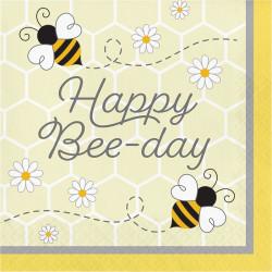 Parti Dünyası - Bal Arısı Happy Bee-Day Peçete 16 Adet