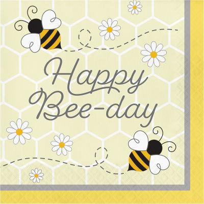 Bal Arısı Happy Bee-Day Peçete 16 Adet