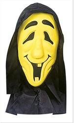 Parti Dünyası - Başlıklı Neon Sarı Renk Hayalet Maskesi