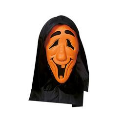 Parti Dünyası - Başlıklı Neon Turuncu Renk Hayalet Maskesi