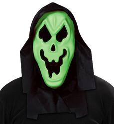Parti Dünyası - Başlıklı Neon Yeşil Renk Hayalet Maskesi
