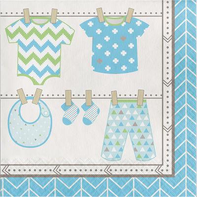 - Bebek Kıyafetleri Mavi Peçete 16 Adet