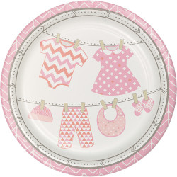 Parti - Bebek Kıyafetleri Pembe Tabak 8 Adet