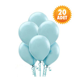 Parti Dünyası - Bebek Mavi 20 Li Latex Balon