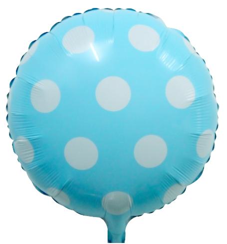 Bebek Mavi Beyaz Puanlı Folyo Balon