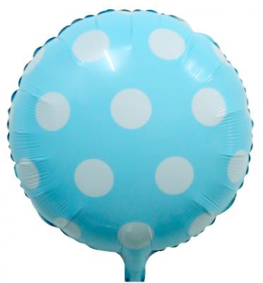 Parti Dünyası - Bebek Mavi Beyaz Puanlı Folyo Balon