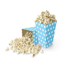 - Bebek Mavisi-Beyaz Puanlı Mısır Kutusu 8 Adet