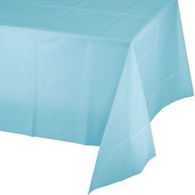 Bebek Mavisi Masa Örtüsü 137x274 cm