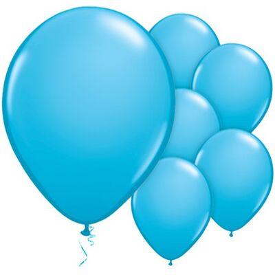 Bebek Mavisi METALİK Balon 10 adet
