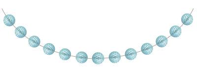 Bebek Mavisi Mini Toplar Garlent 275 cm