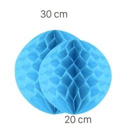 Parti Dünyası - Bebek Mavisi Petek Süs Seti 2 Adet 30-20 cm