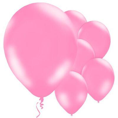 Bebek Pembe Metalik Balon 10 Adet