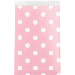 Converting - Bebek Pembe Puanlı Mini Kese Kağıdı Poşeti 40 Adet