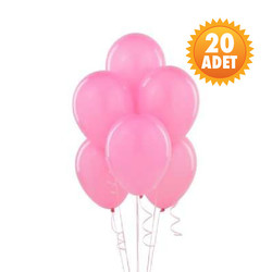Parti Dünyası - Bebek Pembesi 20 Li Latex Balon