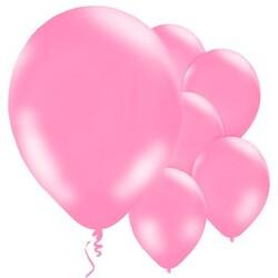 Parti Dünyası - Bebek Pembesi Metalik 100 lü Latex Balon