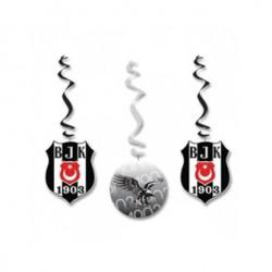 Parti Dünyası - Beşiktaş 3 lü Asma Süs