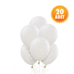 Parti - Beyaz 20 Li Latex Balon